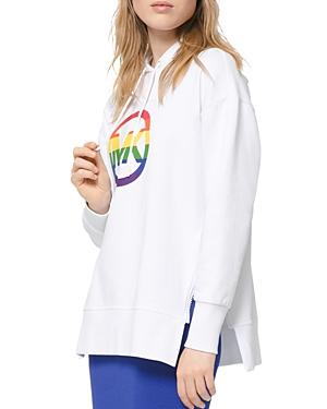 Michael Michael Kors Rainbow Logo Cotton Hoodie