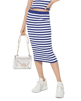 MICHAEL Michael Kors - Striped Stretch Pencil Skirt