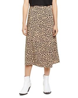 Sanctuary - Animal-Print Midi Slip Skirt