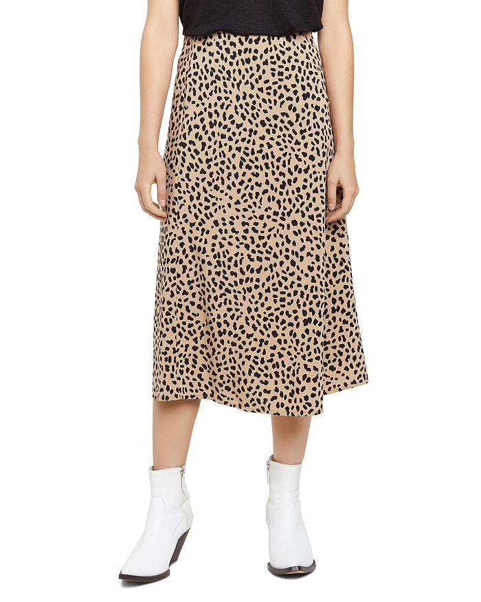SANCTUARY Animal-Print Midi Slip Skirt