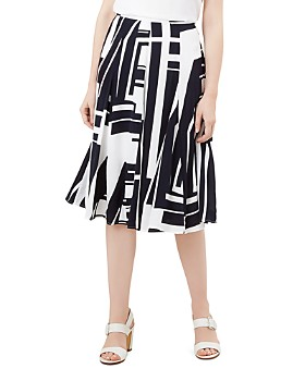 HOBBS LONDON - Tahlia Geometric Print Skirt