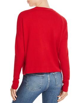 AQUA - Snow Leopard-Appliqué Cashmere Sweater - 100% Exclusive