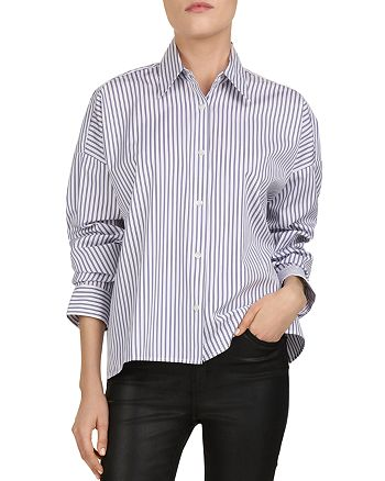 The Kooples - Dandy Oversized Striped Button-Down Shirt