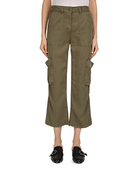 The Kooples - Cropped Flared Cargo Pants