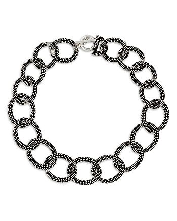 The Kooples - Linked Chain Toggle Necklace, 21.6""