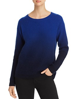 C by Bloomingdale's - Dip-Dye Fisherman's-Stitch Cashmere Sweater - 100% Exclusive