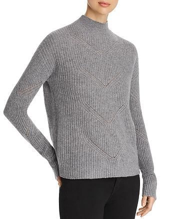 C by Bloomingdale's - Pointelle Mock-Neck Cashmere Sweater - 100% Exclusive