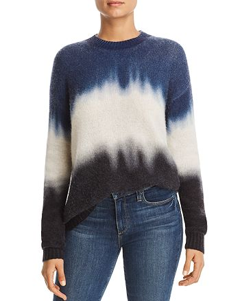 C by Bloomingdale's Dip Dye Brushed Cashmere Sweater 100