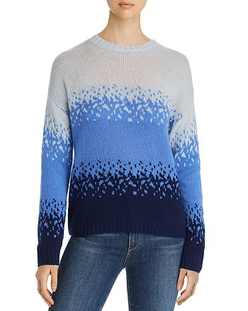 C by Bloomingdale's - Ombré Jacquard Cashmere Sweater - 100% Exclusive