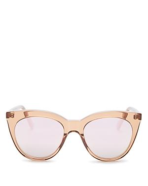 Le Specs Luxe Women's Supermoon Mirrored Square Sunglasses, 53mm