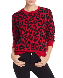 AQUA - Leopard Jacquard Cashmere Sweater - 100% Exclusive