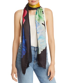 Echo - Stacked Floral Oblong Scarf