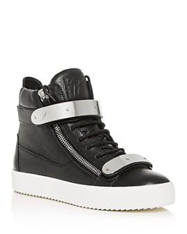 Giuseppe Zanotti - Men's High-Top Double Bar Sneakers