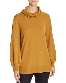 Eileen Fisher Petites - Merino Wool Cowl-Neck Sweater - 100% Exclusive
