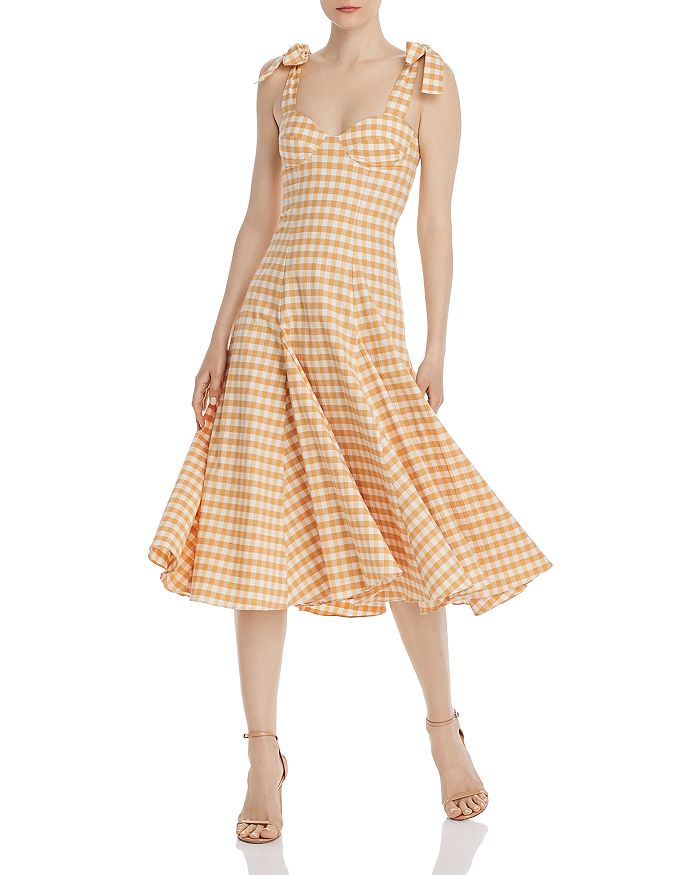 Paper London - Mona Gingham Midi Dress