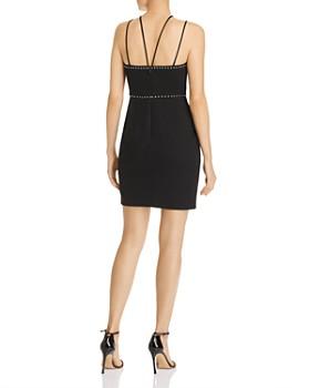 Avery G - Studded Crisscross-Strap Mini Dress