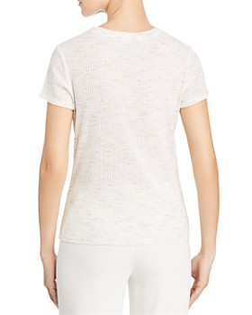Kenneth Cole - Ribbed Knot-Front Tee