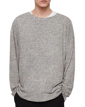 ALLSAINTS - Sine Striped Crewneck Shirt