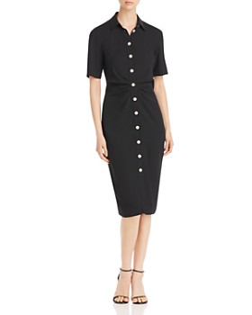 kate spade new york - Ruched-Front Shirt Dress