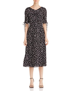 24c7bac7c6be kate spade new york - Mallow-Print Ruched-Detail Dress ...