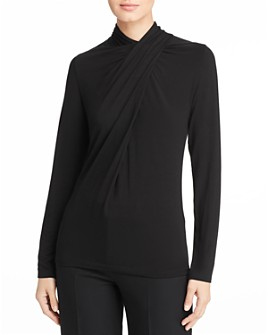 Elie Tahari - Carrie Draped Overlay Top