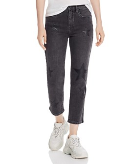 BLANKNYC - Star-Appliqué Straight-Leg Jeans in Ever After