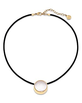 """Majorica - Flat Coin Simulated Pearl Necklace, 16"""""""