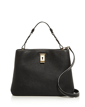 Bally Lucyle Small Pebbled Leather Shoulder Bag-Handbags