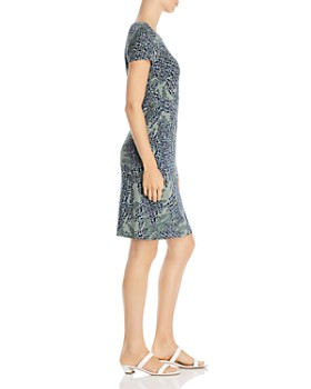NIC and ZOE - Leaf-Print Sheath Dress