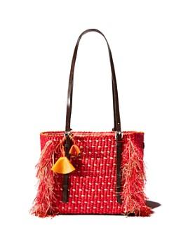 A A K S - Como Bloom Medium Raffia Shoulder Bag
