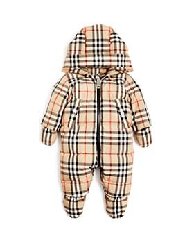 Burberry - Unisex Skylar Vintage Check Hooded Snowsuit - Baby