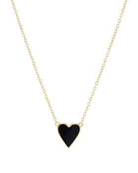 "AQUA - Heart Pendant Necklace in 18K Gold-Plated Sterling Silver, 16"" - 100% Exclusive"