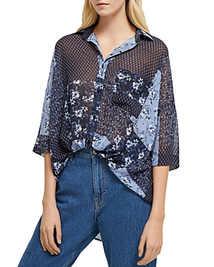 French Connection Floral Patchwork Button-Down Shirt