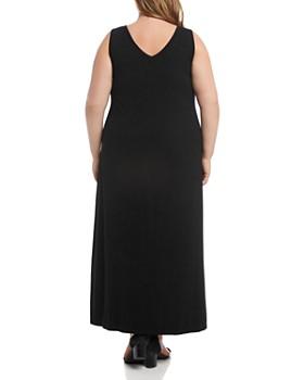 Karen Kane Plus - Alana Button-Front Jersey Maxi Dress