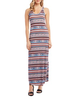 Karen Kane - Western-Inspired Geo & Stripe Print Maxi Dress