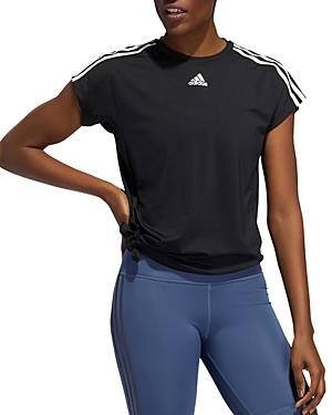 Adidas Originals Tops TRIPLE STRIPE TIE-HEM TEE