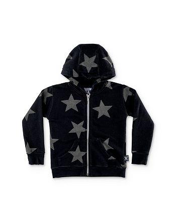 NUNUNU - Boys' Star Zip-Up Hoodie - Little Kid