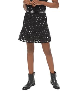 Michael Michael Kors Ruffled Studded Georgette Skirt