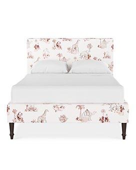 Cloth & Company - Rowan Queen Platform Bed with Fancy Cone Leg