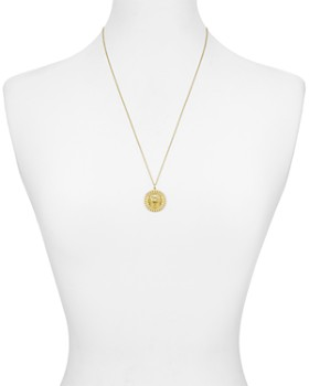 Argento Vivo - Lioness Medallion Pendant Necklace in 18K Gold-Plated Sterling Silver, 24""