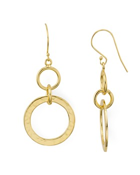 ab00490ab Argento Vivo - St. Barths Hammered-Loop Drop Earrings in 18K Gold-Plated ...