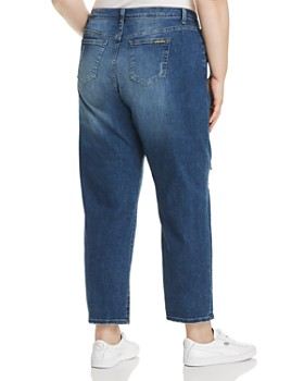 MICHAEL Michael Kors Plus - Dillon Distressed Straight-Leg Jeans in Antique Wash