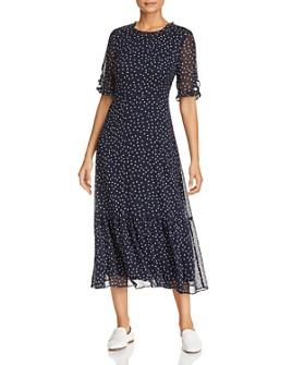KARL LAGERFELD Paris - Polka Dot Ruffle-Trimmed Dress