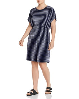 B Collection by Bobeau Curvy - Celeste Short-Sleeve Striped Dress