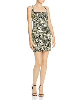 LIKELY - Leopard-Print Mini Dress