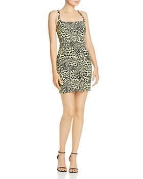 LIKELY - Leopard-Print Mini Dress