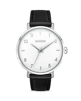 Nixon - Arrow Black Leather Strap Watch, 38mm