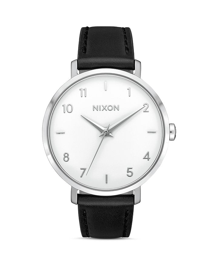 Nixon ARROW BLACK LEATHER STRAP WATCH, 38MM