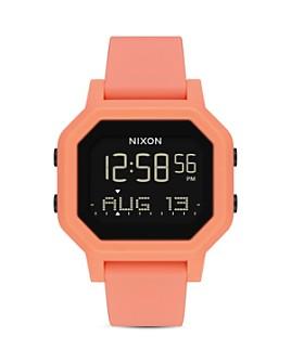 Nixon - Siren Rubber Strap Watch, 33mm x 38mm