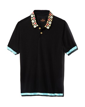 MAXHOSA BY LADUMA - Contrast-Trimmed Silk Regular Fit Knit Polo Shirt - 100% Exclusive